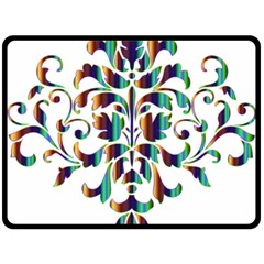 Damask Decorative Ornamental Double Sided Fleece Blanket (large)  by Amaryn4rt
