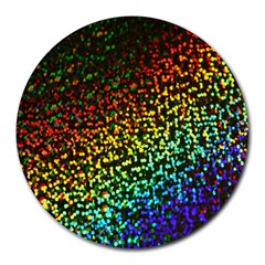 Construction Paper Iridescent Round Mousepads by Amaryn4rt