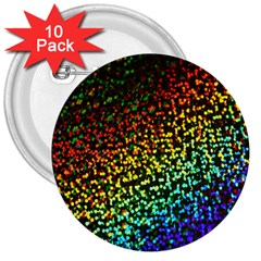 Construction Paper Iridescent 3  Buttons (10 Pack)  by Amaryn4rt