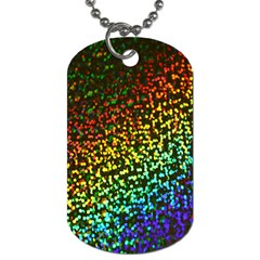 Construction Paper Iridescent Dog Tag (one Side) by Amaryn4rt