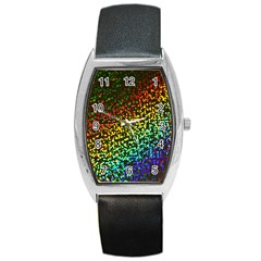Construction Paper Iridescent Barrel Style Metal Watch by Amaryn4rt