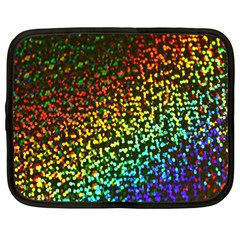 Construction Paper Iridescent Netbook Case (large) by Amaryn4rt