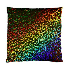 Construction Paper Iridescent Standard Cushion Case (two Sides) by Amaryn4rt