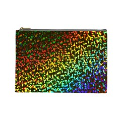 Construction Paper Iridescent Cosmetic Bag (large)  by Amaryn4rt