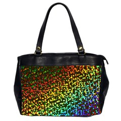 Construction Paper Iridescent Office Handbags (2 Sides)  by Amaryn4rt