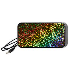 Construction Paper Iridescent Portable Speaker (black) by Amaryn4rt