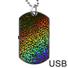 Construction Paper Iridescent Dog Tag Usb Flash (one Side) by Amaryn4rt
