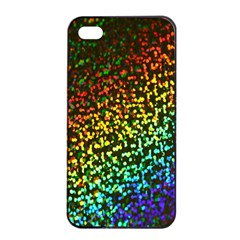 Construction Paper Iridescent Apple Iphone 4/4s Seamless Case (black) by Amaryn4rt