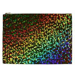 Construction Paper Iridescent Cosmetic Bag (xxl)  by Amaryn4rt