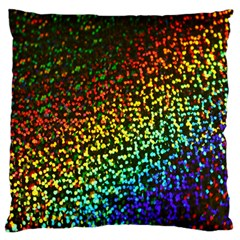 Construction Paper Iridescent Large Flano Cushion Case (two Sides) by Amaryn4rt