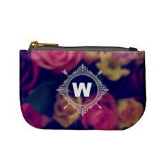 Vintage Monogram Flower  Coin Change Purse
