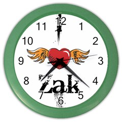 I Heart Zak Color Wall Clocks by badwolf1988store