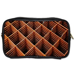 Metal Grid Framework Creates An Abstract Toiletries Bags by Amaryn4rt