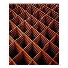 Metal Grid Framework Creates An Abstract Shower Curtain 60  X 72  (medium)  by Amaryn4rt
