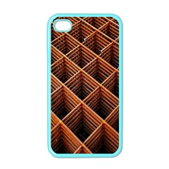 Metal Grid Framework Creates An Abstract Apple Iphone 4 Case (color) by Amaryn4rt