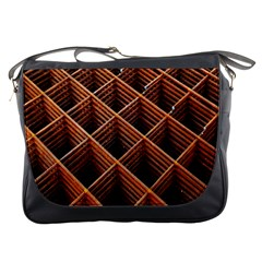 Metal Grid Framework Creates An Abstract Messenger Bags by Amaryn4rt