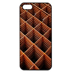 Metal Grid Framework Creates An Abstract Apple Iphone 5 Seamless Case (black) by Amaryn4rt