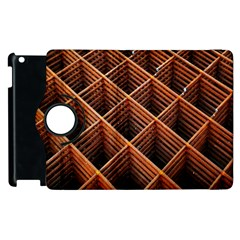 Metal Grid Framework Creates An Abstract Apple Ipad 3/4 Flip 360 Case by Amaryn4rt
