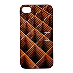 Metal Grid Framework Creates An Abstract Apple Iphone 4/4s Hardshell Case With Stand by Amaryn4rt