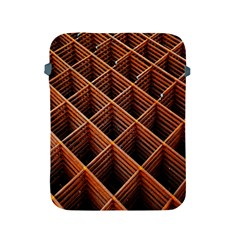 Metal Grid Framework Creates An Abstract Apple Ipad 2/3/4 Protective Soft Cases by Amaryn4rt
