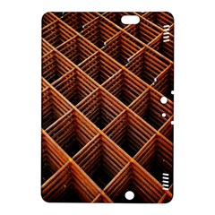 Metal Grid Framework Creates An Abstract Kindle Fire Hdx 8 9  Hardshell Case by Amaryn4rt