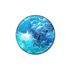 Fractal Occean Waves Artistic Background Hat Clip Ball Marker by Amaryn4rt