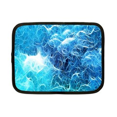 Fractal Occean Waves Artistic Background Netbook Case (small)  by Amaryn4rt