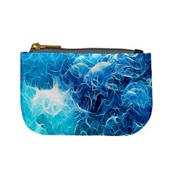Fractal Occean Waves Artistic Background Mini Coin Purses by Amaryn4rt