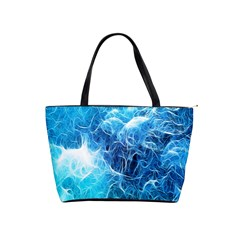 Fractal Occean Waves Artistic Background Shoulder Handbags by Amaryn4rt
