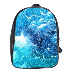 Fractal Occean Waves Artistic Background School Bags(large)  by Amaryn4rt