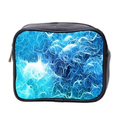 Fractal Occean Waves Artistic Background Mini Toiletries Bag 2 Side by Amaryn4rt