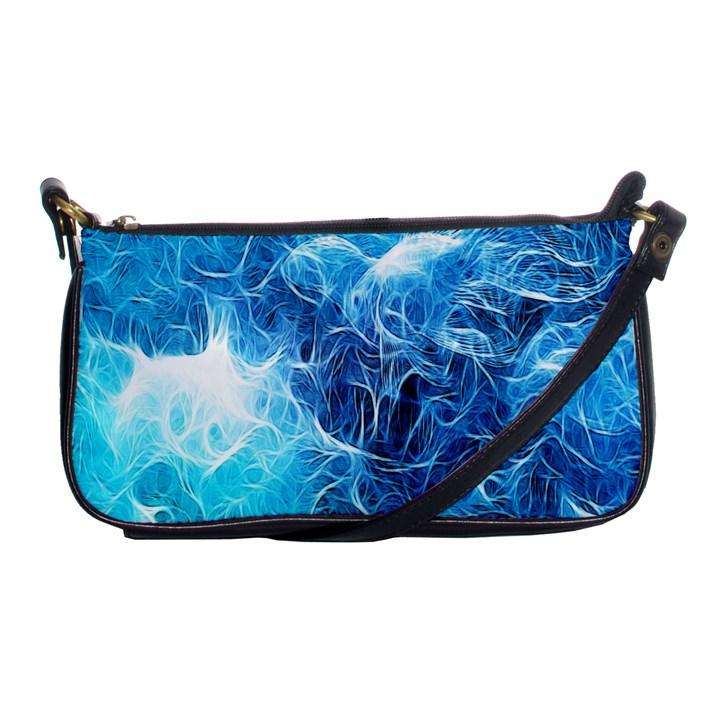 Fractal Occean Waves Artistic Background Shoulder Clutch Bags