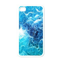 Fractal Occean Waves Artistic Background Apple Iphone 4 Case (white) by Amaryn4rt