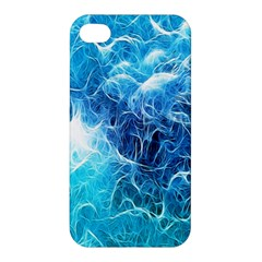 Fractal Occean Waves Artistic Background Apple Iphone 4/4s Premium Hardshell Case by Amaryn4rt