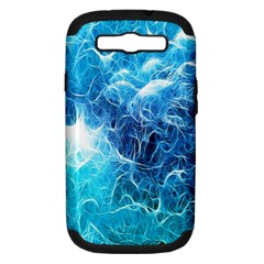Fractal Occean Waves Artistic Background Samsung Galaxy S Iii Hardshell Case (pc+silicone) by Amaryn4rt