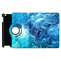 Fractal Occean Waves Artistic Background Apple Ipad 2 Flip 360 Case by Amaryn4rt
