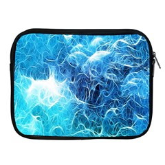 Fractal Occean Waves Artistic Background Apple Ipad 2/3/4 Zipper Cases by Amaryn4rt