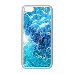Fractal Occean Waves Artistic Background Apple Iphone 5c Seamless Case (white) by Amaryn4rt