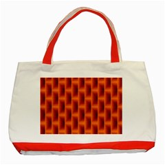 Fractal Multicolored Background Classic Tote Bag (red) by Amaryn4rt