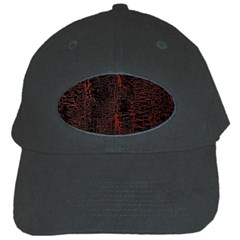Black And Red Background Black Cap by Amaryn4rt