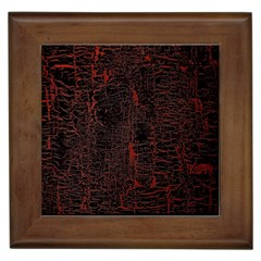 Black And Red Background Framed Tiles by Amaryn4rt