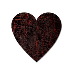 Black And Red Background Heart Magnet by Amaryn4rt