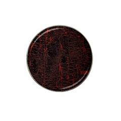 Black And Red Background Hat Clip Ball Marker (4 Pack) by Amaryn4rt