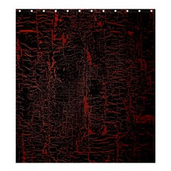 Black And Red Background Shower Curtain 66  x 72  (Large)