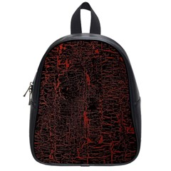 Black And Red Background School Bags (small)  by Amaryn4rt