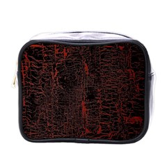 Black And Red Background Mini Toiletries Bags by Amaryn4rt