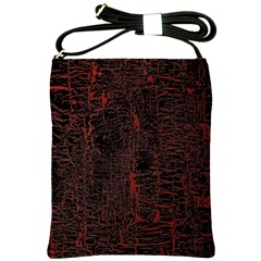Black And Red Background Shoulder Sling Bags by Amaryn4rt