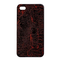 Black And Red Background Apple Iphone 4/4s Seamless Case (black) by Amaryn4rt