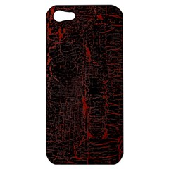 Black And Red Background Apple Iphone 5 Hardshell Case by Amaryn4rt