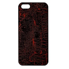 Black And Red Background Apple Iphone 5 Seamless Case (black) by Amaryn4rt